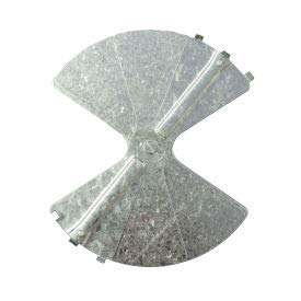 (American Louver Balancing Damper, Radial, Galvanized steel, 6