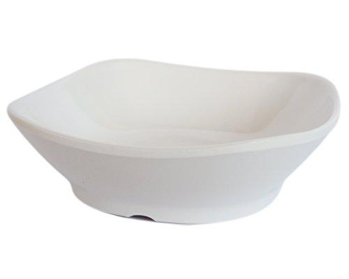 [(Set of 24) Amatahouse Square Soy Sauce Dish Sushi Wasabi Plates Soy Sauce Dipping Bowls FW Melamine, Cream 2.75 inch] (Sushi And Kikkoman Costume)