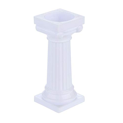 Lemoning❤ 4pcs Multi-Layered Cake Roman Column Support Stand Decor Pillars Wedding Cake Black -