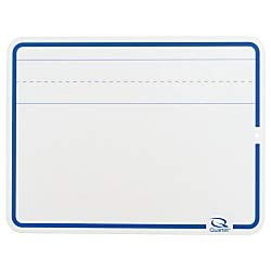 Boone Educational Dry-Erase Board, White, Lined