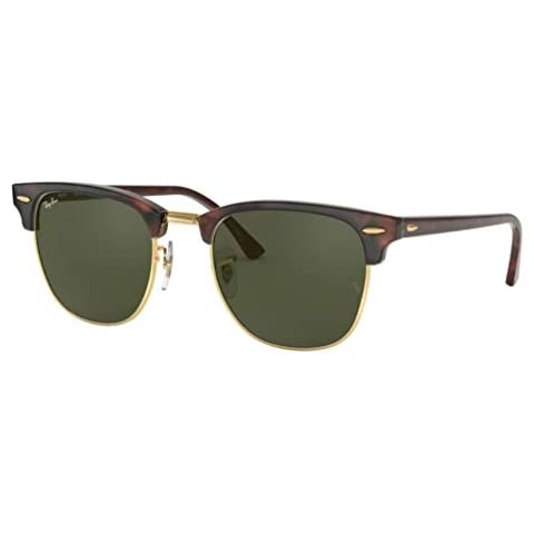 25783ea64 Ray-Ban RB3016 Clubmaster Classic Unisex Sunglasses (Tortoise Frame/Green  G-15