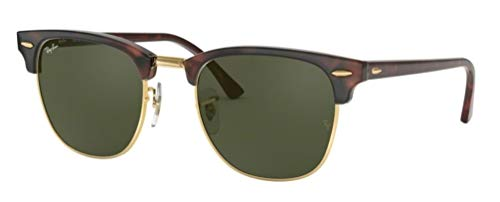 - Ray-Ban RB3016 Clubmaster Classic Unisex Sunglasses (Tortoise Frame/Green G-15 Lens W0366, 49)