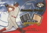2002 Fleer Box (2002 Fleer Box Score Amazing Greats Single Swatch #15 Jim Thome Bat Jsy Near Mint/Mint)