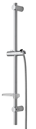 Nikles Fresh Slide bar 35 inches with soap dish and shower hose