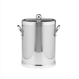 Kraftware Grant Signature Home Polished Chrome Ice Bucket, 5 quart, Silver