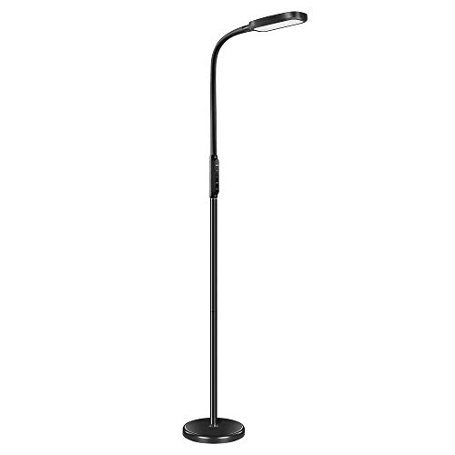 Miroco LED Floor Lamp with 5 Brightness Levels & 3 Color Temperatures, 1815 Lumens, Adjustable LED Floor Light, Dimmable Reading Standing Lamp for Sewing Living Room Bedroom Office (Lamps Reading Bedroom)