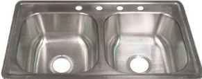 33'' X 19'' X 8'' Extra Deep Mobile Home Kitchen Sink by Hydros