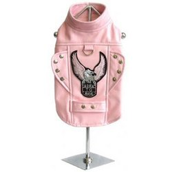 Doggie Design Born To Ride Motorcycle Harness Jacket - Pink