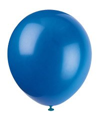 latex balloons blue - 5