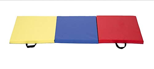 oldzon Exercise Mat 6'x2′ Tri-Fold Gym Mat for Gymnastics Panel Fitness with Ebook
