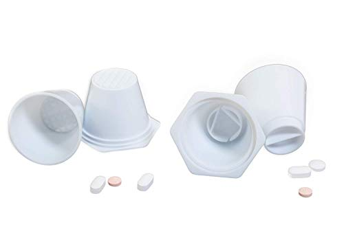 Pill Crusher, Grinder, Splitter cups for tablets, (2 Pack) Easy to Use!