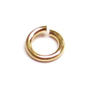 40 pcs 14k Gold Filled Round Open Jump Rings 3mm 24 Gauge 24ga Wire / Findings / Yellow Gold 14k Yellow Gold Jump Ring