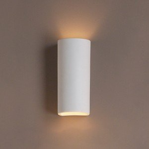 5 Inch Classic Cylinder Ceramic Wall Sconce-Indoor Lighting Fixture ...