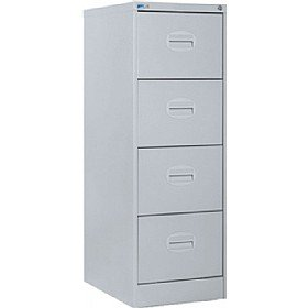 Silverline 4 Drawer Kontrax Filing Cabinet - Light Grey: Amazon.co ...