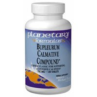 Planetary Herbals Bupleurum Calmative Compound, 120 Tabs (Pack of 2)