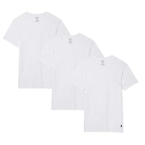 57f0309e Polo Ralph Lauren Slim Fit Crew Neck Undershirts 3-Pack White Large