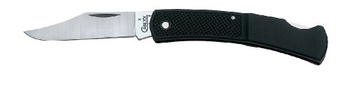 Case Cutlery 147 Case Lightweight Caliber Lockback Pocket Knife with Stainless Steel Blade, Black Synthetic, Outdoor Stuffs