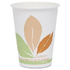 SOLO Cup Company Products - SOLO Cup Company - Bare PLA Hot Cups, White w/Leaf Design, 10 oz., 300/Carton - Sold As 1 Carton - Eco-forward™ hot cups are made with a plant based resin (PLA). - Made with 100% renewable resources. - Compostable in commercial composting facilities.