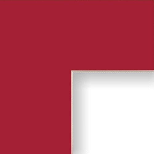 Craig Frames B459 16x20-Inch Mat, Single Opening for 12x16-Inch Image, Deep Red with Cream Core
