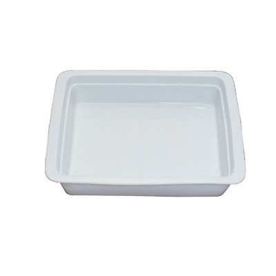 Porcelain Round Chafing Dish - Smart Buffet Ware 1A11209 2/3 Oblong Porcelain Food Pan