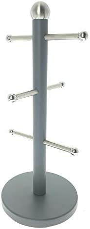 Novel Solutions Stainless Steel Matt Grey Coated Kitchen Towel Roll Pole Holder Kitchen Paper Stand