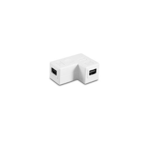 Vantec Mini DisplayPort Coupler, Female to Female - 90 Degree (CBL-MD90FF) by Vantec