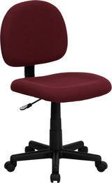 Flash Furniture Mid-Back Burgundy Fabric Swivel Task Chair by Flash Furniture