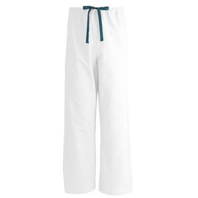 600NTQS-CA - Medline AngelStat Unisex Reversible Drawstring Scrub Pants,White,NTQ