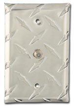 Diamond Coaxial Cable Wall Plate Single - Aluminum