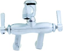 Chicago Faucets 305-VBRRCF Wall Mount Service Sink Faucet with Adjustable Centers, Rough Chrome 0.5' Npt Male Inlet