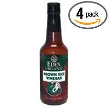Eden Foods Vinegar, Og, Brown Rice, 10-Ounce (Pack of 4)