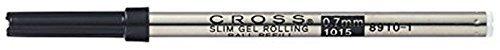Cross Gel Refill - 3 x Cross Gel Roller Pen Refill in Black Ink, 0.7 mm ( Bulk Pack ) 8910-1