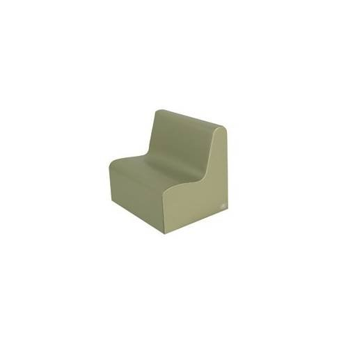 Tot Contour Love Seat in Sage/Fern
