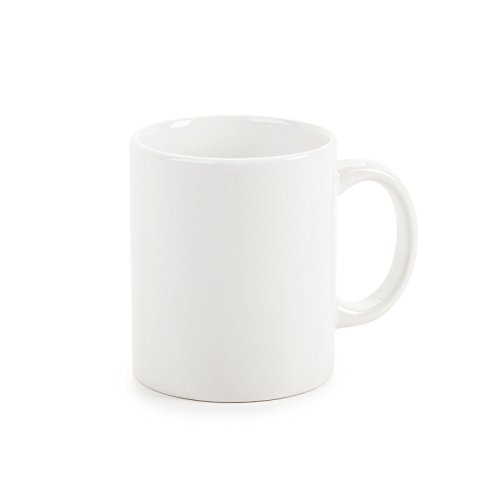 Darice 11 oz Coffee Mug, (Plain Coffee Mug)