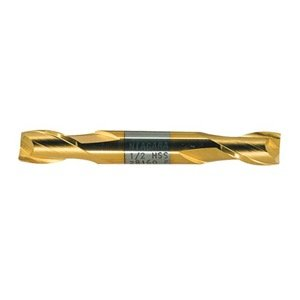 """UPC 698036281205, Niagara Cutter N28120 High-Speed Steel End Mill, General Purpose, TiN Coated, 2 Flutes, Double Square End, 9/16"""" Cutting Length, 3/8"""" Cutting Diameter"""