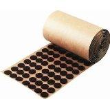 5,000 Brown Adhesive Felt Pad - Button 1/2'' Diameter - Felt Protection