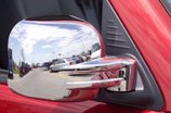 Chrome Trim Mirror Covers Overlays Fits 2005thru 2010 Chrysler 300 / 300C - fits painted or chromed mirrors