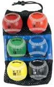 """Markwort 9"""" Weighted Baseball Set with Leather Cover from Set of 6 Balls"""