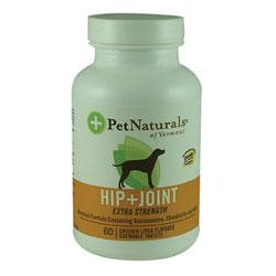 Pet Naturals of Vermont Hip and Joint Extra Strength Chicken Flavor Chewable Dog Tablets, My Pet Supplies