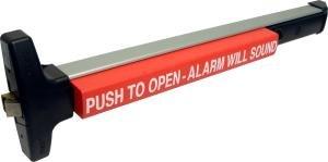 Narrow Stile Rim (Detex ValueSeries V40xEM Wide & Narrow Stile Alarmed Delayed Egress Rim Exit Device w/ Magnetic Lock)