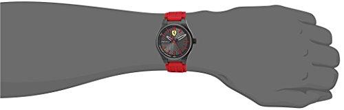 Scuderia Ferrari Men s Stainless Steel Quartz Watch with Silicone Strap, red, 0.55 Model 840010