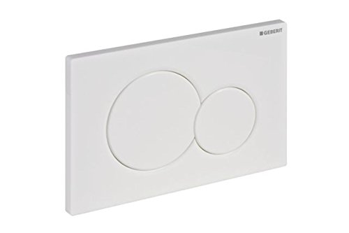 Geberit 115.770.11.5 Actuator plate, 11.610&quotL x 6.890&quotW x 1.770&Quoth, Alpine White