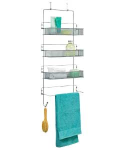 Space Saving High Quality Chrome 3 Tier Over Door Organiser / Bathroom  Storage Unit   Ideal