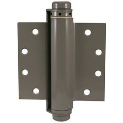 Single Action Barrel Spring Hinge for Metal Doors - Adjustable Self Closing - Prime Finish for Painting - 6'' Inch x 4.5'' Inch - 2 Pack