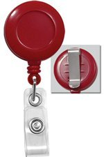 Retractable Badge Reel - RED with Belt Clip