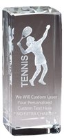 Express Medals Customizable Optical Crystal Female Tennis Trophy Award Gift