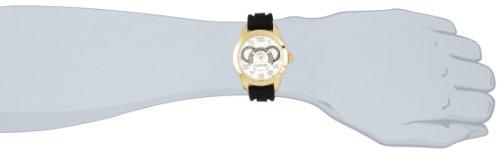 Lancaster Men's OLA0457SL-NR-NR Non Plus Ultra Silver Textured Dial Black Silicone Watch