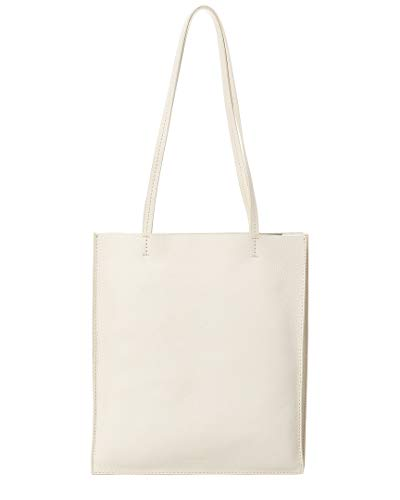 Steven Alan Maddox Accordion Gusset Leather Tote, White