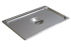 Carlisle DuraPan Steam Table Pan Cover, full-size, solid, flat, lift-off, recessed handle, dishwasher safe, 24 gauge 18/8 stainless steel, NSF, 607000C by Carlisle