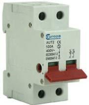 Europa AUT2 2 Pole Mainswitch Isolator, 100A, 230Vac - ISO100-2